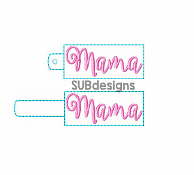 Mama snap tab eyelet design (2 styles included)-Nana Snap tab keyfob feltie felt embroidery design 4x4 5x7 6x10 pattern hoop small tiny mini triple bean rag raggy stitch patch in the hoop pocket vintage sketch applique planner clip paperclip book mark bookmark vinyl key fob chain mom nan nene mimi mama mami mommy grandma grandparent grandmother mama mom momma mamma mammy mother mothers day