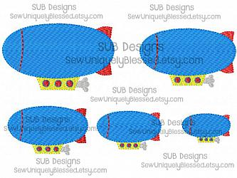5 sizes blimp fill stitch design-5 sizes mini blimp embroidery design 4x4 5x7 6x10 felt pattern hoop shape small tiny embroider feltie accent applique hair bow ribbon miniature center filled stitch fill machine single hot air balloon sub mini submarine zeppelin dirigible flying