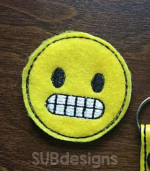 Emoji braces feltie (3 sizes included)-3 sizes feltie felt embroidery design 4x4 5x7 6x10 pattern hoop small tiny mini triple bean rag raggy stitch patch in the hoop vintage sketch applique planner clip paperclip book redwork emoji emojis emojies laughing crying cry laugh smile smiling happy funny sad heart love kiss tongue stick sticking wink winky winking surprised shocked wow open mouth braces eek teeth