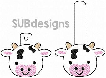 Cow-Cow Snap tab keyfob Horse flower feltie face peeker felt embroidery design 4x4 5x7 6x10 pattern hoop small tiny mini triple bean rag raggy stitch patch in the hoop pocket vintage sketch applique planner clip paperclip book vinyl key fob chain pony 3 flowers three daisy daisies moo bull girl boy snaptab keychain eyelet zipper pull chain charm vinyl flowers cute cutie smile smiling barn barnyard barn yard farm farmyard animal animals crown eyelash sleep sleeping eye lash eyelashes