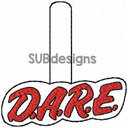 Dare snap tab-Dare Snap tab keyfob embroidery design 5x7 pattern hoop small tiny mini triple bean patch in the hoop applique felt vinyl key fob chain embroider Key Fob keychain chain drug drugs to resist drugs and violence drug abuse resistance education teacher teach kid kids child awareness to keep kids off drugs