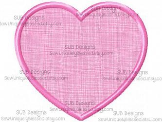 Heart applique-Heart Applique Machine embroidery design 4x4 5x7 6x10 8x8 pattern hoop monogram shape love valentine valentines day small big embroider red holiday simple cheap free freebie download beginner easy