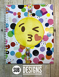 Emoji kiss book band-Book band oversized feltie outline silhouette felt embroidery design 4x4 5x7 6x10 pattern small tiny mini triple bean patch in the hoop applique planner clip paperclip book pen elastic diy bookmark page bird summer hair bow holder hairbow emoji emojis emojies laughing crying cry laugh smile smiling happy funny sad heart love kiss tongue stick sticking wink winky winking surprised shocked wow open mouth braces eek teeth