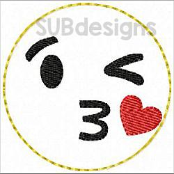 Emoji kiss felties (3 sizes included)-3 sizes feltie felt embroidery design 4x4 5x7 6x10 pattern hoop small tiny mini triple bean rag raggy stitch patch in the hoop vintage sketch applique planner clip paperclip book redwork emoji emojis emojies laughing crying cry laugh smile smiling happy funny sad heart love kiss tongue stick sticking wink winky winking surprised shocked wow open mouth braces eek teeth