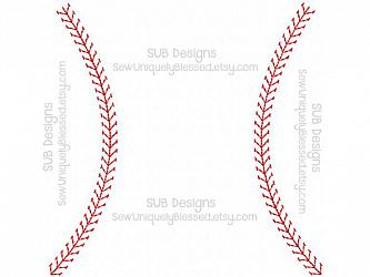LACES ONLY stitch design (14 sizes included)-14 sizes LACES ONLY Baseball Applique Machine embroidery design 4x4 5x7 6x10 8x8 pattern hoop embroider base ball sports sport team laces monogram name home plate bases diamond bat glove mitt field player hat lace sketch stitches vintage