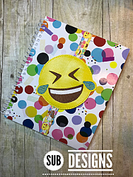 Emoji laughing book band-Book band oversized feltie outline silhouette felt embroidery design 4x4 5x7 6x10 pattern small tiny mini triple bean patch in the hoop applique planner clip paperclip book pen elastic diy bookmark page bird summer hair bow holder hairbow emoji emojis emojies laughing crying cry laugh smile smiling happy funny sad heart love kiss tongue stick sticking wink winky winking surprised shocked wow open mouth braces eek teeth