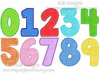 5 sizes FAT applique numbers-5 sizes Fat Applique Numbers machine embroidery design 4x4 5x7 6x10 hoop boy girl Chunky Bold Block font birthday 0 1 2 3 4 5 6 7 8 9 number alphabet big little chubby solid kid child baby manatee satin basic plain