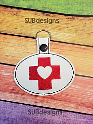 Medical cross heart-medical cross heart Snap tab keyfob feltie felt embroidery design 4x4 5x7 6x10 pattern hoop small tiny mini triple bean rag raggy stitch patch in the hoop pocket vintage sketch applique planner clip paperclip book vinyl key fob chain valentine valentines valentines day hearts block square red holiday words phrase keychain love nurse nurses doctor doctors rn cna lpn vet veterinarian assistant dentist dental hygienist gift school nurse