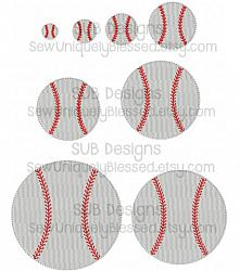 8 sizes baseball fill stitch design-8 sizes baseball embroidery design 4x4 5x7 6x10 felt pattern hoop shape small tiny embroider feltie accent circle applique hairbow hair bow ribbon miniature center filled stitch fill machine single round base ball soft softball sports 8x8 9x9 team