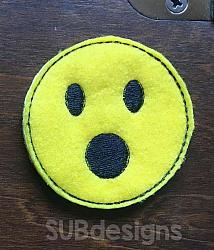 Emoji open mouth felties (3 sizes included)-3 sizes feltie felt embroidery design 4x4 5x7 6x10 pattern hoop small tiny mini triple bean rag raggy stitch patch in the hoop vintage sketch applique planner clip paperclip book redwork emoji emojis emojies laughing crying cry laugh smile smiling happy funny sad heart love kiss tongue stick sticking wink winky winking surprised shocked wow open mouth braces eek teeth