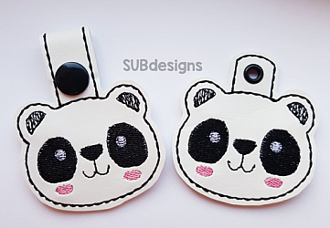 Panda face-Panda bear Snap tab keyfob Horse flower feltie face peeker felt embroidery design 4x4 5x7 6x10 pattern hoop small tiny mini triple bean rag raggy stitch patch in the hoop pocket vintage sketch applique planner clip paperclip book vinyl key fob chain pony 3 flowers three daisy daisies moo bull girl boy snaptab keychain eyelet zipper pull chain charm vinyl flowers cute cutie smile smiling barn barnyard barn yard farm farmyard animal animals crown eyelash sleep sleeping eye lash eyelashes pup dog doggy beagle spot spots flower crown flowers
