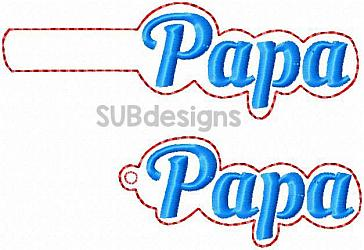 Papa snap tab-Papa Snap tab keyfob feltie felt embroidery design 4x4 5x7 6x10 pattern hoop small tiny mini triple bean rag raggy stitch patch in the hoop pocket vintage sketch applique planner clip paperclip book mark bookmark vinyl key fob chain mom nan nene mimi mama mami mommy grandma grandparent grandmother grandpa grandfather papi paw pawpaw gramps grampy
