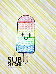 Rainbow popsicle holder-popsicle ice cream holder cooler felt in the hoop embroidery design embroider otter pop otterpop summer beach pool kids rainbow