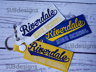 Riverdale High School keychain-Riverdale high school Snap tab keyfob feltie felt embroidery design 4x4 5x7 6x10 pattern hoop small tiny mini triple bean rag raggy stitch patch in the hoop pocket vintage sketch applique planner clip paperclip book mark bookmark vinyl key fob chain 2019 2018 graduate graduation graduating cap gown black red blue keychain 12th grade 12 class school gift teacher teach student kid child boy girl river dale archie comic comics jughead jug head pops southside south side serpent serpents snake tv show television