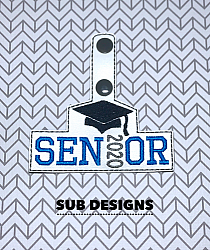 Senior 2020 snap tab-senior 2020 Snap tab keyfob feltie felt embroidery design 4x4 5x7 6x10 pattern hoop small tiny mini triple bean rag raggy stitch patch in the hoop pocket vintage sketch applique planner clip paperclip book mark bookmark vinyl key fob chain 2019 2018 graduate graduation graduating cap gown black red blue keychain 12th grade 12 class school gift teacher teach student kid child boy girl