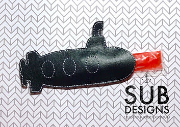Submarine popsicle holder-popsicle ice cream holder cooler felt in the hoop embroidery design embroider mermaid tail tale fish fishy catfish otter pop otterpop summer beach pool kids  submarine boat fishing