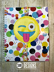 Emoji tongue book band-Book band oversized feltie outline silhouette felt embroidery design 4x4 5x7 6x10 pattern small tiny mini triple bean patch in the hoop applique planner clip paperclip book pen elastic diy bookmark page bird summer hair bow holder hairbow emoji emojis emojies laughing crying cry laugh smile smiling happy funny sad heart love kiss tongue stick sticking wink winky winking surprised shocked wow open mouth braces eek teeth