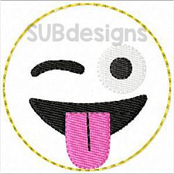 Emoji tongue felties (3 sizes included)-3 sizes feltie felt embroidery design 4x4 5x7 6x10 pattern hoop small tiny mini triple bean rag raggy stitch patch in the hoop vintage sketch applique planner clip paperclip book redwork emoji emojis emojies laughing crying cry laugh smile smiling happy funny sad heart love kiss tongue stick sticking wink winky winking surprised shocked wow open mouth braces eek teeth