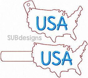 USA snap tab-USA united states of america Snap tab keyfob feltie felt embroidery design 4x4 5x7 6x10 pattern hoop small tiny mini triple bean rag raggy stitch patch in the hoop pocket vintage sketch applique planner clip paperclip book vinyl key fob chain red white blue merica stars stripes sunglasses glasses outline silhouette fourth of july 4th freedom independence day memorial day president presidents military